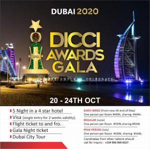 DUBAI 2020 DICCI GALA AWARDS